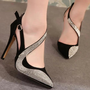 Doris - Rhinestone High Heels - Izzabel