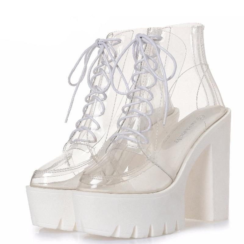 Molly - Transparent High Ankle Boot