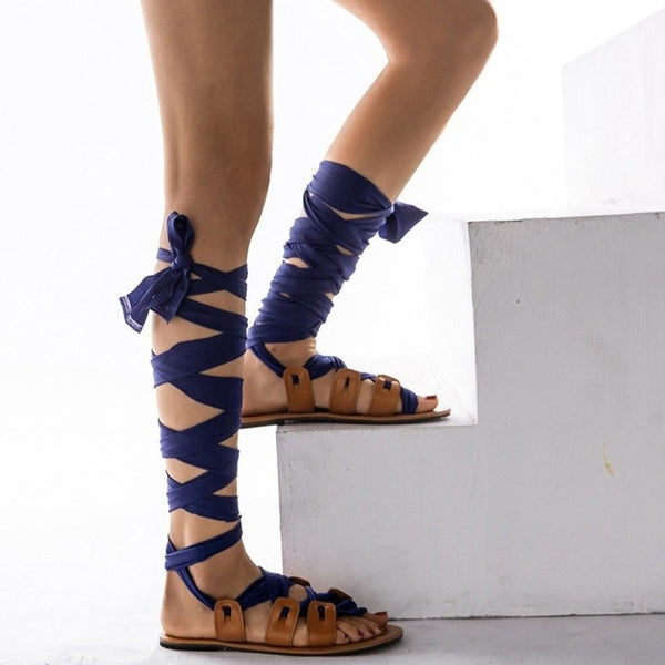 Phoebe - Lace Up High Sandals - Izzabel