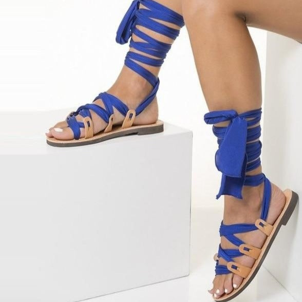 Phoebe - Lace Up High Sandals