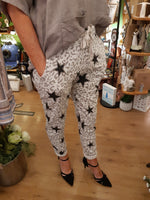Italian Animal/Star Print Pants