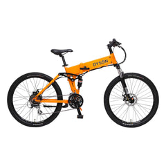 "Adventure folding e-bike 26"" in orange starting at $1999"