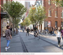 Artist impression of future Little Bourke St Melbourne