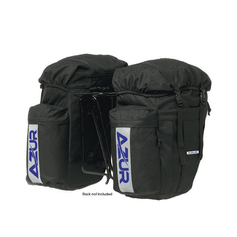 AZUR bicycle pannier bag set - Black
