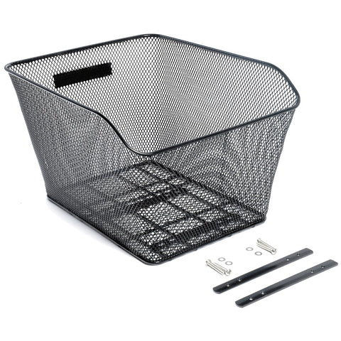 Wire top mount bicycle basket