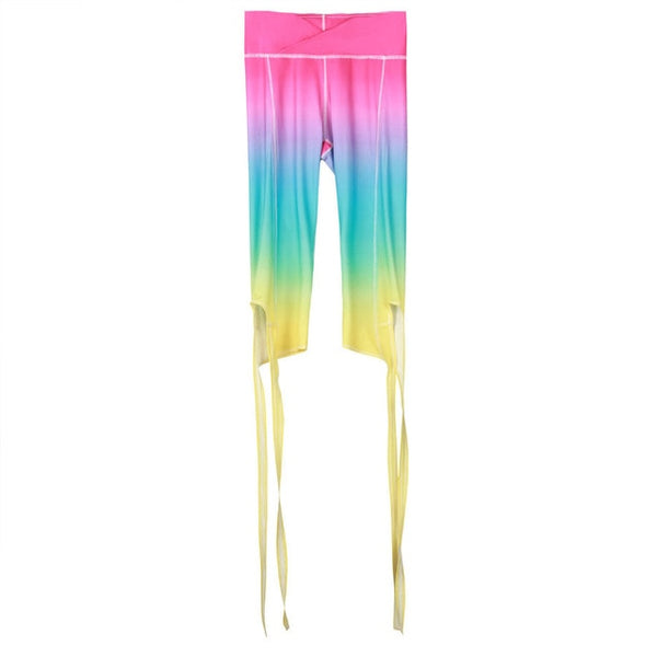 Candy Colors Gradient Styles Sexy Women Capri Pants Legging Bandage Short Leggings Work Out Dancing Fitness Clothes For Women