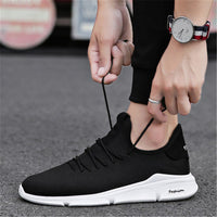 New 2018 Spring Summer Mesh Shoes Men Sneakers Low top Black Shoes Men's Casual Shoes Male Brand Sneakers