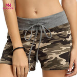 shorts for women short Summer Camouflage Workout Shorts Drawstring Casual Contrast Side Elastic Waist Casual Cheap Hot feminino