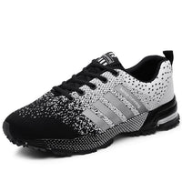ZHENZU 2018 Hot Sale Black White Running Shoes for Men Mesh Air Sport Shoes Man Outdoor Training Sneakers Breathable Lace-Up