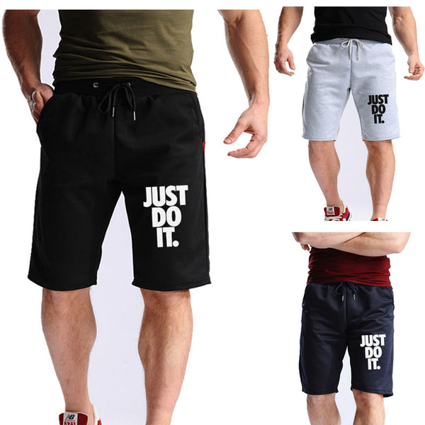 summer Hot-Selling Man's Shorts Cotton Casual Fashion Shorts JUST BREAK IT print Sweatpants knee shorts Fitness Short Jogger