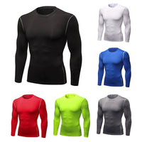 Mens Compression Shirt Fitness T Shirt Bodybuilding Tight Running Long Sleeves Shirts Sport Suit Workout Gym Fitness Sportswear