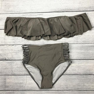 FRILL HIGH WAIST BIKINI SET