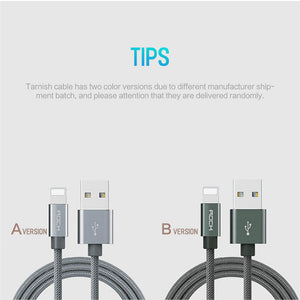 Câble iPhone Micro USB Charge Rapide Ultra Résistant 1m, 2.1A