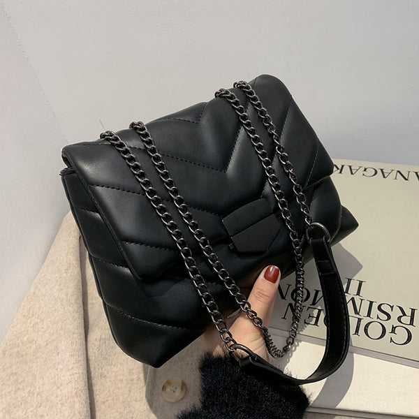 Famous Luxury Women Brand Handbags 2021 Female Shoulder Crossbody Chain Cute Leather Black Stylish Petty Square Mobile Phone Bag