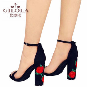 Fashion High Heels Hollow Open Toe Shoes Cut Outs Stiletto Flowers