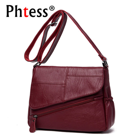 Summer New Female Messenger Bags Leather Luxury Handbags Designer Shoulder Bag