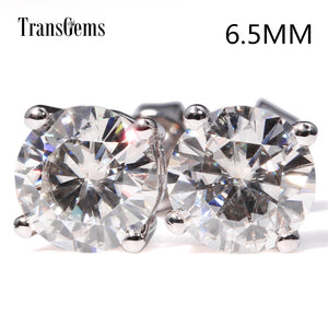 Elegant 14K White Gold 2ctw Moissanite Diamond Stud Earrings