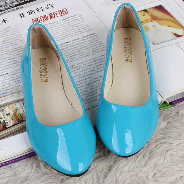 Leather Spring Candy Colors Ballet Flat Shoes