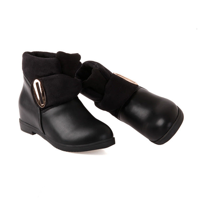 Hot Fashion Comfortable Solid Color Ankle Boots