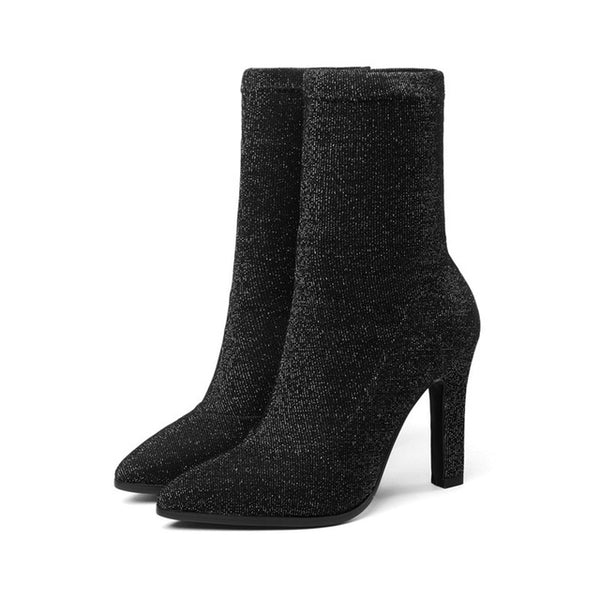 Hot Fashion Pointed Toe Plus Sizes Dressy Ankle Boots