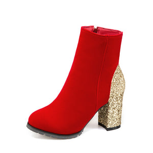 New Fashion Shiny High Heel Ankle Boots