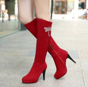 New Fashion Knee High Thin High Heeled Boots