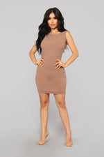 All Up In The Club Dress - Mocha