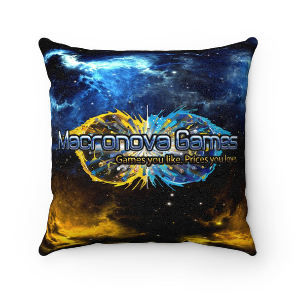 Macronova Games Square Faux Suede Pillow Home Decor - Macronova Games