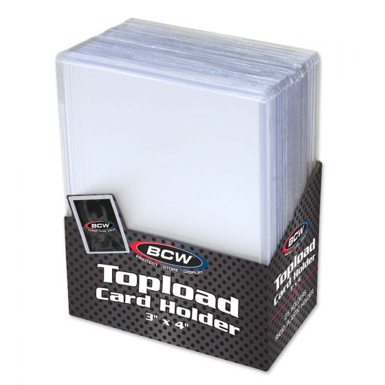 BCW 3x4 Topload Card Holder - Standard Accessory - Macronova Games