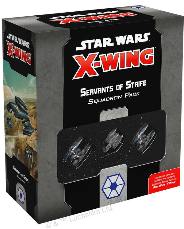 Star Wars X-Wing: 2nd Edition - Servants of Strife Squadron Pack Board Game - Macronova Games