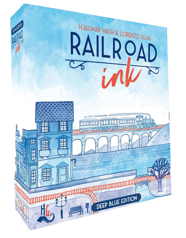 Railroad Ink: Deep Blue Edition Board Game - Macronova Games
