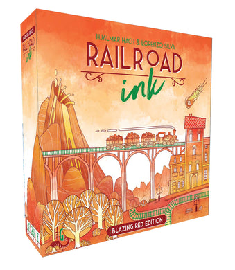 Railroad Ink: Blazing Red Edition Board Game - Macronova Games