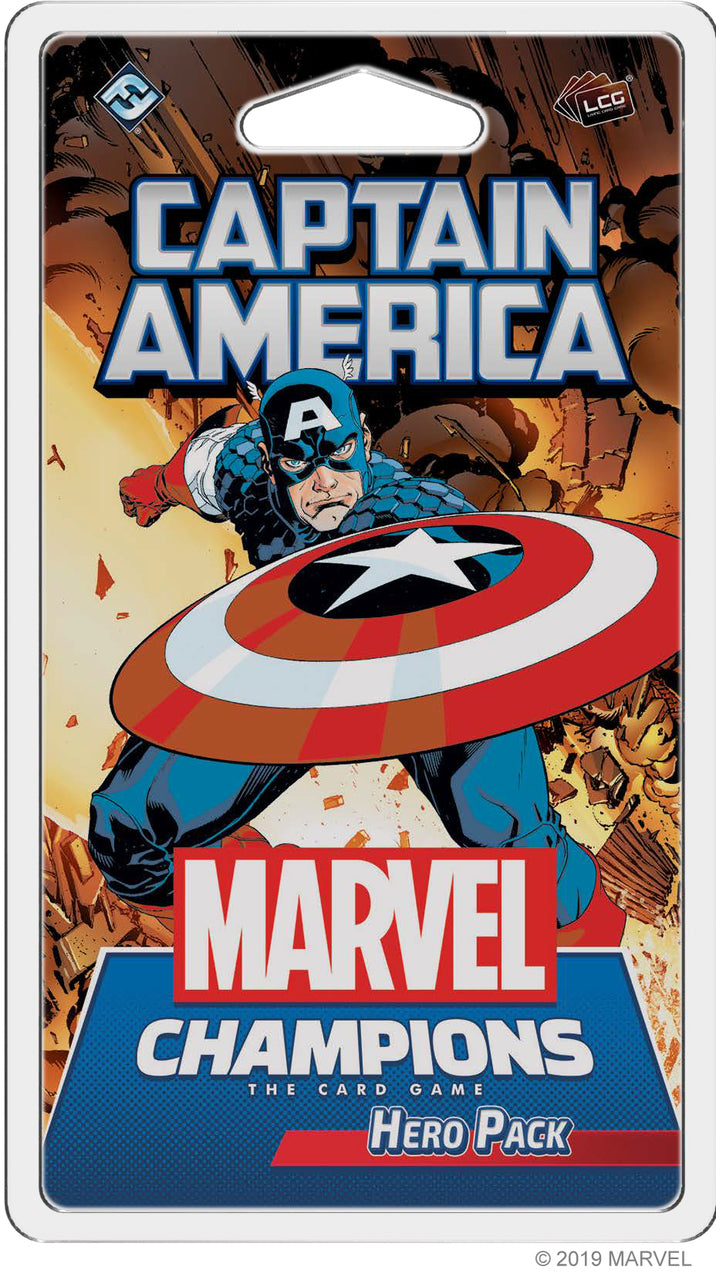 Marvel Champions: Captain America Hero Pack Board Game - Macronova Games