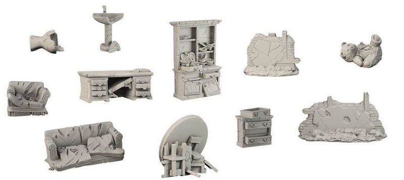 Terrain Crate: Battle-Damaged House Accessory - Macronova Games