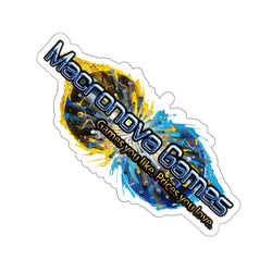Macronova Games Logo Stickers (White Border) Paper products - Macronova Games