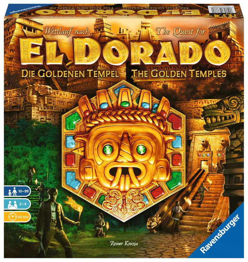 The Quest for El Dorado: Golden Temples Board Game - Macronova Games