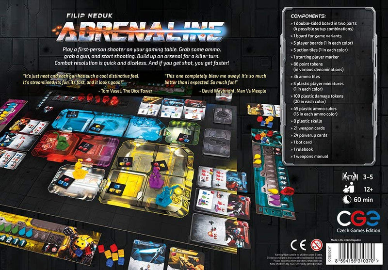 Adrenaline Board Game - Macronova Games