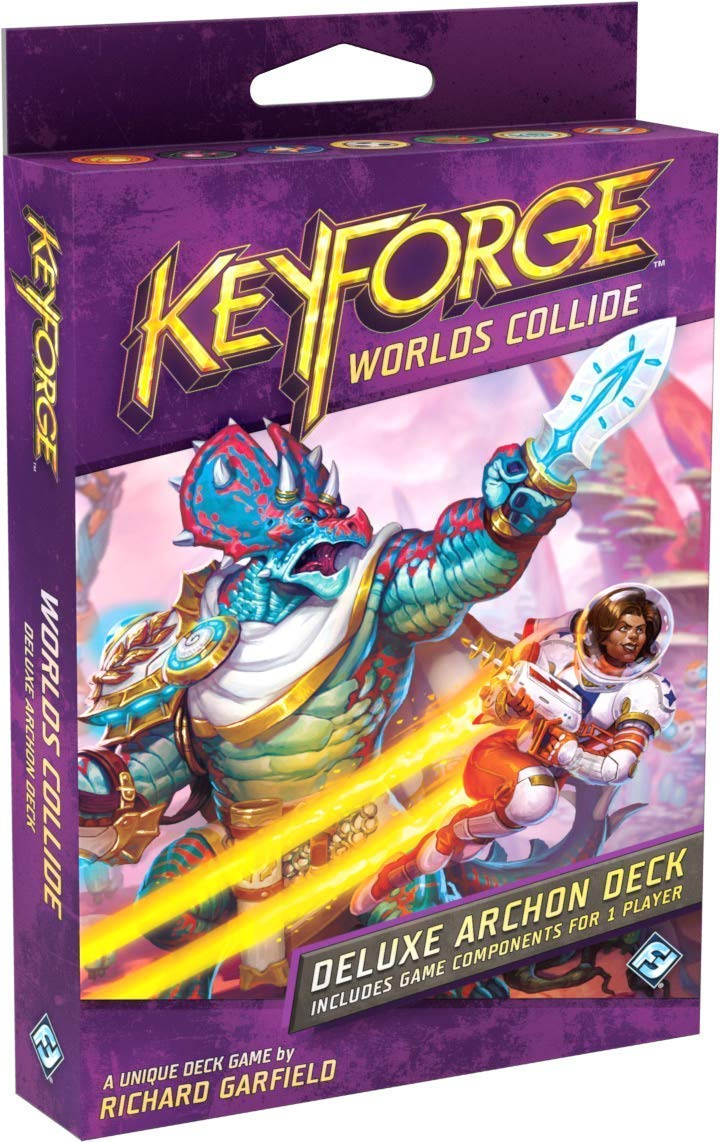 Keyforge: Worlds Collide Deluxe Archon Starter Deck Board Game - Macronova Games