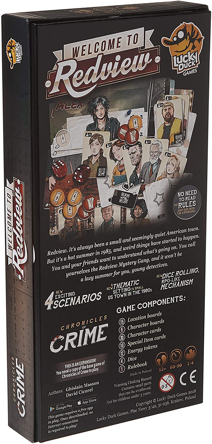 Chronicles of Crime: Redview Board Game - Macronova Games