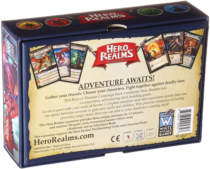 Hero Realms: The Ruin of Thandar Campaign Deck Board Game - Macronova Games