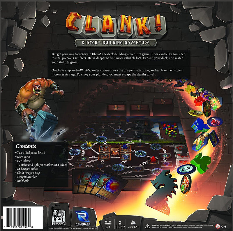 Clank! A Deck-Building Adventure Board Game - Macronova Games