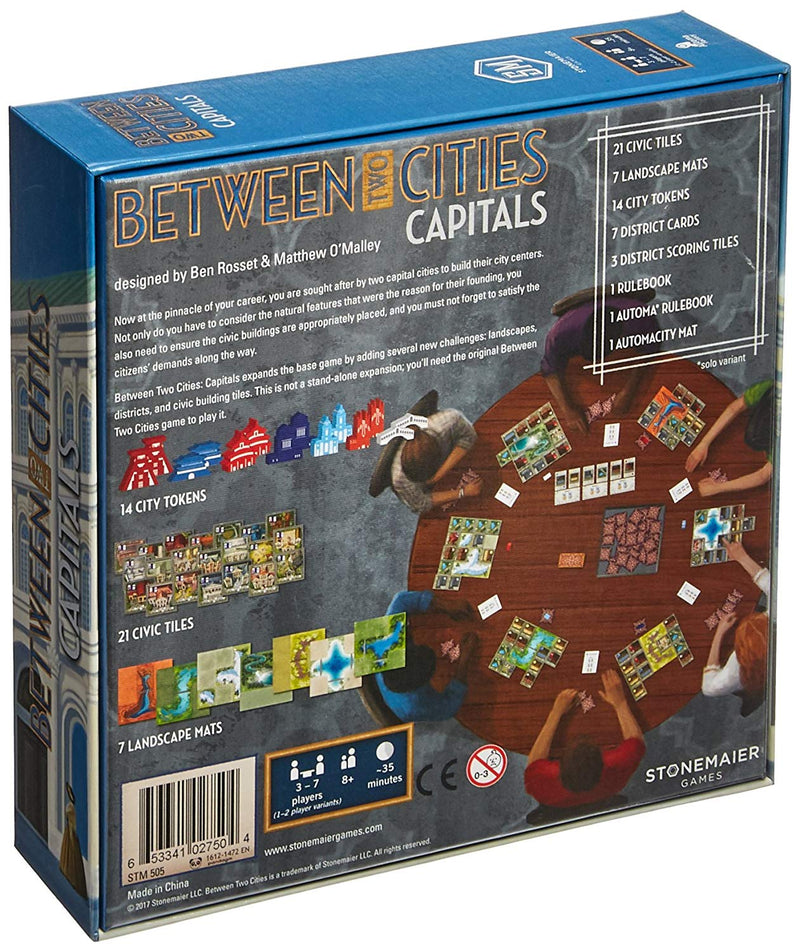 Between Two Cities: Capitals Board Game - Macronova Games