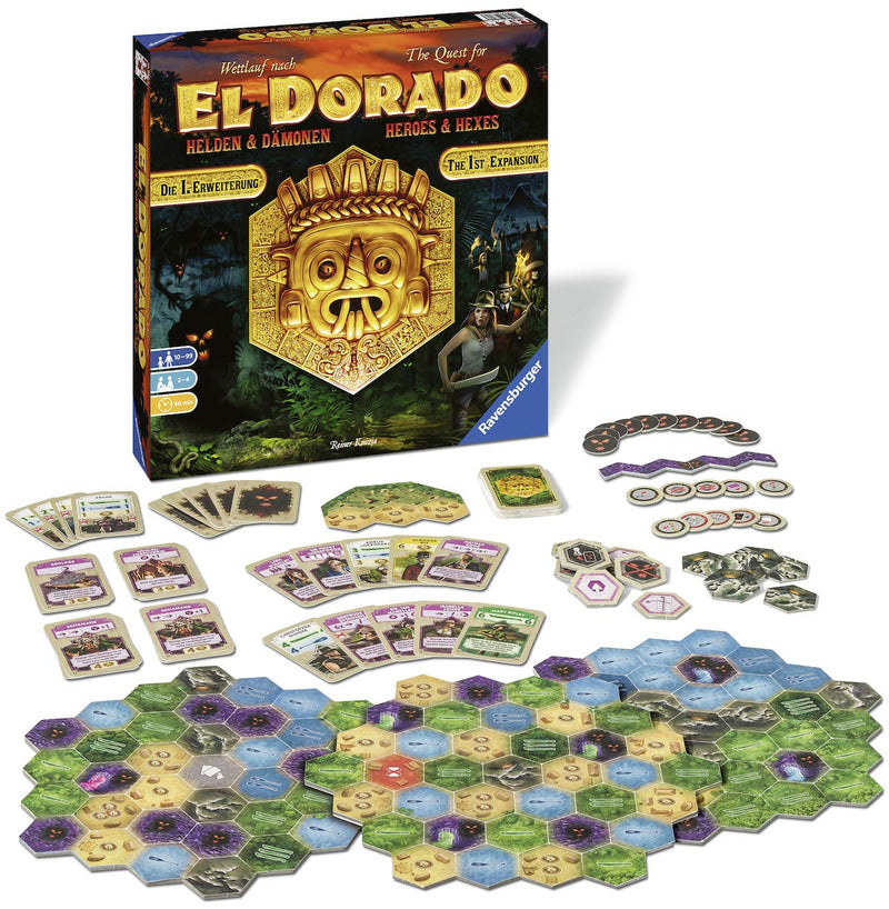 The Quest for El Dorado - Heroes and Hexes Expansion Board Game - Macronova Games