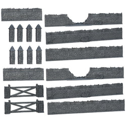 Terrain Crate: Battlefield Walls Accessory - Macronova Games