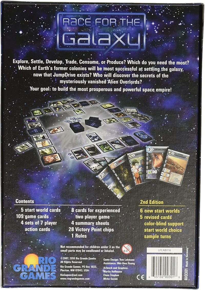 Race for the Galaxy (Revised 2nd Edition) Board Game - Macronova Games