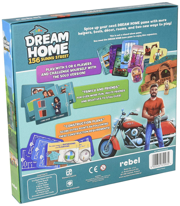 Dream Home: 156 Sunny Street Board Game - Macronova Games