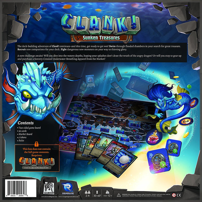 Clank! Sunken Treasures Board Game - Macronova Games