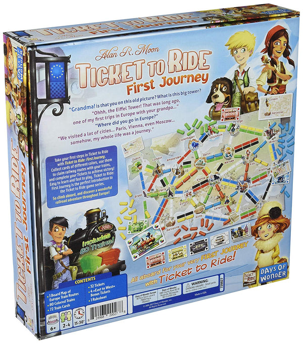 Ticket to Ride: First Journey - Europe Board Game - Macronova Games