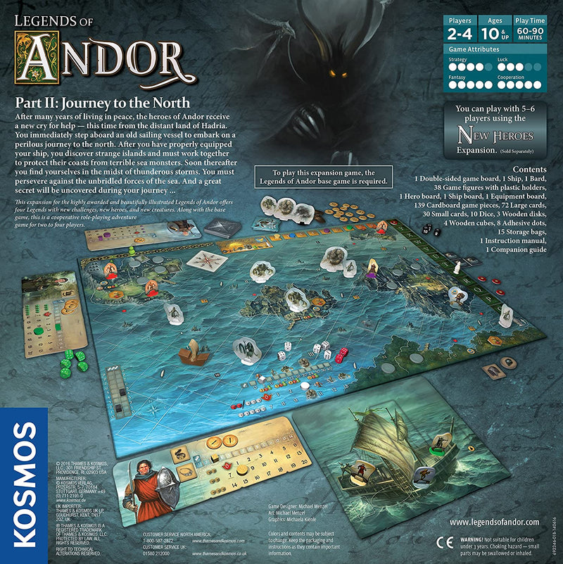 Legends of Andor: Journey to the North Board Game - Macronova Games