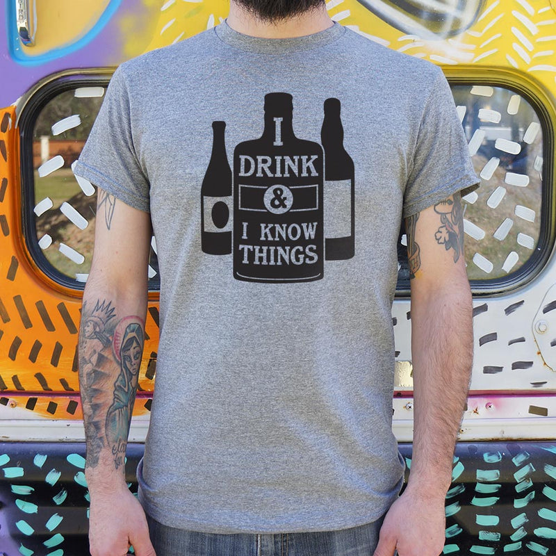 I Drink And I Know Things T-Shirt (Mens) Mens T-Shirt - Macronova Games